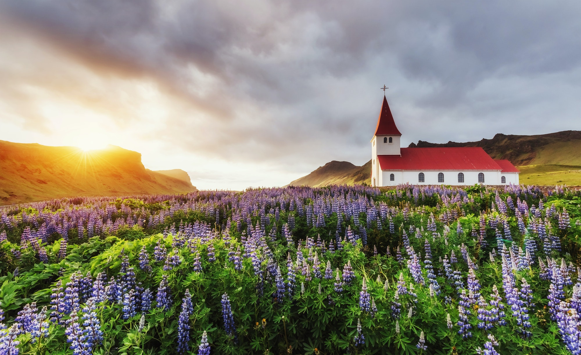 Lutheran church in Vik. Iceland.